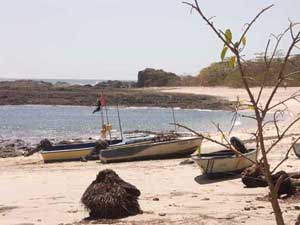 Fishing boats at San Juanillo - sport fishing Pacific Coast, Guanacaste, Costa Rica