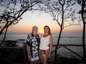 Jack and Karen Hunter on sundeck at Tree Tops Bed and Breakfast, Costa Rica