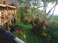 The relaxing gardens of Tree Tops bed and breakfast